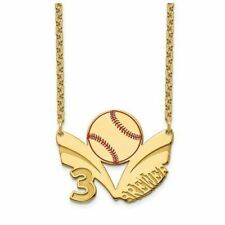 GP Epoxied Baseball Necklace with Name and Number
