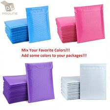 """Mix Your Color 1000 Poly Bubble Shipping Envelopes Mailers #000 Extra Wide 4""""x8"""""""