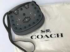 Coach 1941 Collection Western Rivets Leather Saddle Bag, New