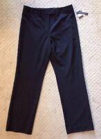 NWT Women's Grace Essentials Black Rhinestone Pants-size 14