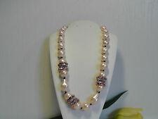 Alexis Bittar 'Miss Havisham' Pink Shell Pearl Necklace.*******NEW******