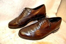 Oakton Classic Brown Leather Wingtip Oxford  Dress Shoe`s Men`s 10 D