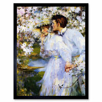 Shannon In The Springtime Painting Art Print Framed 12x16