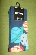 NWT HOT TOPIC CREW SOCKS PLANETS ASTRONAUT BALLOONS SIZE 9-11  BLUE