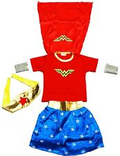 NEW SZ 2-12 KIDS COSTUMES WONDER WOMAN GIRLS DRESS UP PARTY CHILDREN SUPERHERO
