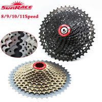 SUNRACE 8/9/10/11Speed MTB/Road Bike Cassette Shimano SRAM Bicycle Freewheel