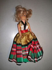 """Atc Plastic Doll 7 1/2"""" tall Blonde Missing one shoe"""