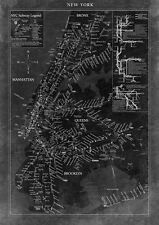 MAP ART PRINT New York Map GI Art Lab