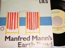 """7"""" - Manfred Mann´s Earth Band Lies & You´re not my - MINT French 1980 # 2951"""