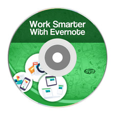 Evernote Notes DVD Work Smarter Get Organized Productivity Video Audio Training