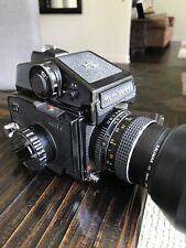 "Mamiya M645 J with PD Meter Prism Finder, 80mm 2.8 ""C"", & 120 Insert, Very Good"