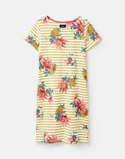 Joules Womens 211137 Short Sleeve Long Dress - Clematis Floral Stripe