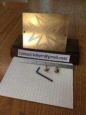 Maltese Cross Solid Brass Engraving Plate For New Hermes Font Tray