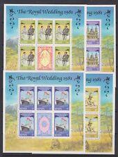 1981 Royal Wedding Charles & Diana MNH Stamp Sheetlets Kenya