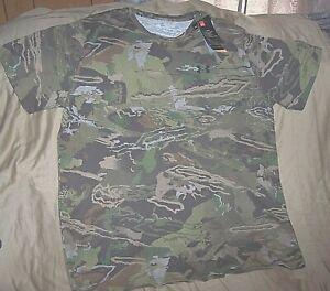 Mens 3X Under Armour Camo T Shirt Camo Hunting Shirt Scent Control Forest Camo