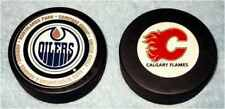 NHL, Calgary Flames, Oilers, Official Licensed Product, Hockey Puck