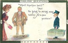 Cobb Shinn~Foolish Questions~Another Hat?~No~Soap Bubbles For Necklace~COD Pkg