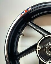 GB Flag Union Jack Tapered Reflective White Motorcycle Wheel Rim 025GB