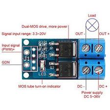 DC5V - 36V High-Power MOS FET Trigger Drive Switch Module PWM Adjust Control UK*
