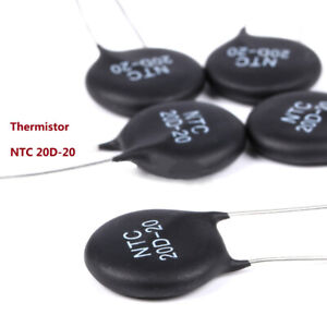 NTC 20D-20 Thermistor 20Ω Thermally Sensitive Resistor MF72 Inrush Current Limit