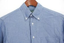 Gitman Vintage Men's Blue Chambray Long Sleeve Button Down Shirt USA Made Small
