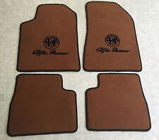 Autoteppich Fußmatten für Alfa Romeo Giulietta Cognac Velours 4teilig Neuware