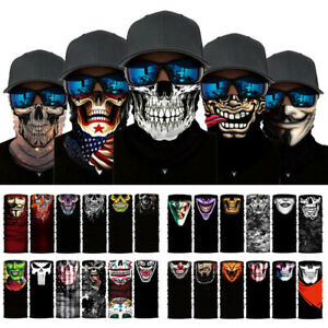 1PC Neck Tube Scarf Snood Face Mask Bandana Skull Faces Warmer Unisex Multi-use