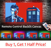 Dr Who  - LED BACKLIT Canvas : USB Powered Wall Art  *David Tennant PRINT*
