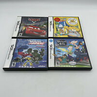 LOT OF 4 Nintendo DS Games Cars Phineas And Ferb 2 Etc ALL GAMES COMPLETE