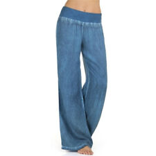 Women's Fashion Sexy Loose Long Pants Sexy Pure Color Linen Yoga Home TrouserP&T