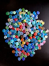 10 Pieces 3mm Big Holes Center Drilled Beach Sea Glass Beads For Jewelry Making