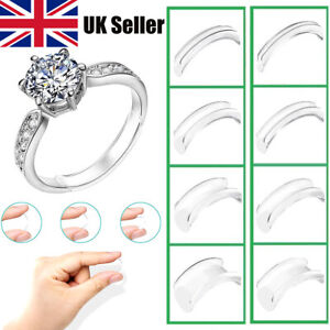 Invisible Design Ring Size Clip Guard Resizer Reducer Adjuster Silicone Clear UK