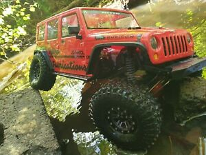 Axial Scx10 ii Rc Crawler With Upgrades