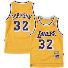 Los Angeles Lakers Magic Johnson Youth Soul Swingman Jersey S 41636fa5c