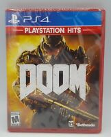 PS4 DOOM PLAYSTATION HITS Video Game Brand New Factory Sealed Sony PlayStation 4