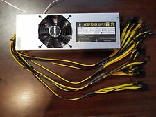 Gold PLUS standard 2400W 200A 18 X 6+2 Pin Asic and GPU Mining Power supply unit