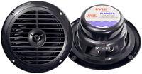 """Pyle PLMR67B Black Pair New 6.5"""" 120 Watt Marine Car Boat Waterproof Speakers"""