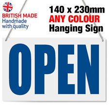 OPEN & CLOSED HANGING SIGN, SHOP WINDOW DOOR - ANY COLOUR - SIMPLE & EFFECTIVE