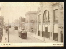 1918 Uruguay A very rare postcard issued in honor of Galicia Tramway street