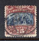 US Stamp 1869, 15c, Scott #118, Used, Small Hole & Tear