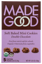 Made Good Soft Baked Mini Cookies,  Double Chocolate  (Pack of 6,  4.25 oz. B...