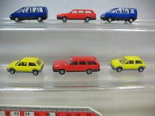 S858-0,5# 6x Busch H0 Modelle: Volkswagen VW Passat, Citroen AX, Renault Espace