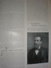 Photo article late board of trade civil servant Sir Courtenay Boyle 1901