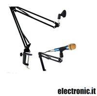 Supporto da tavolo regolabile per microfono