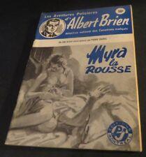 1940s ADVENTURES POLICIER ALBERT BRIEN DETECTIVE SEX MURDER FRENCH  PULP #506