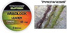 Lead core weedlook Leader marron Prowess Elitech 45lbs 5m