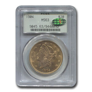 1904 $20 Liberty Gold Double Eagle MS-63 PCGS CAC - SKU#187976