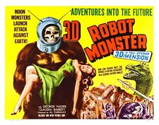 Us Seller - robot monster vintage horror sci-fi movie poster house bar ideas