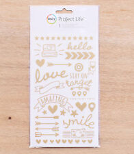 Becky Higgins PROJECT LIFE GOLD FOIL RUB-ONS scrapbooking 380483