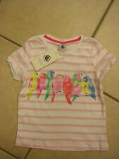 T-Shirt mit kurzem Arm,rosa/weiss geringelt mit Motiv, von Petit Bateau. NEU!!!